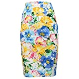 Ralph Lauren 2461X Gonna Donna Slim Multicolor Cotton Skirt Woman [10/L]