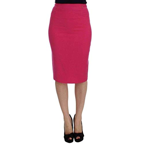 Galliano - - All - Pink Wool Stretch Pencil Skirt - IT40|S