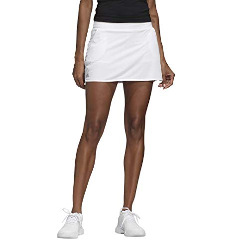 adidas Damen Club Rock, Damen, Kleid, Club Skirt, Weiß/mattsilber/schwarz, XX-Small