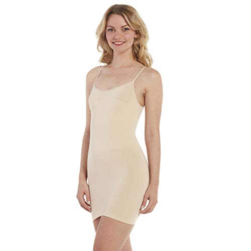 MAGIC Bodyfashion Damen Miederkleid Seamless Bodydress, Einfarbig, Gr. 36 (Herstellergröße: S), Beige (Skin 1553)
