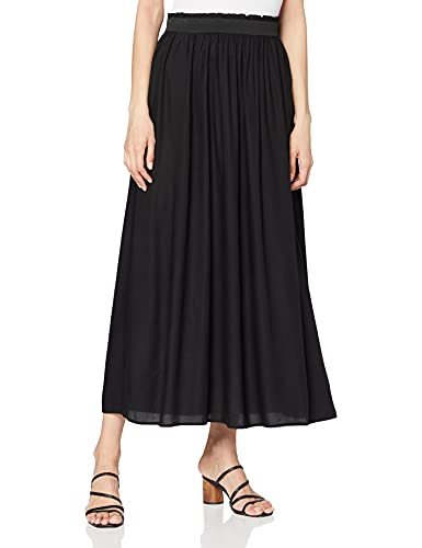 ONLY NOS Damen Onlvenedig Paperbag Long Skirt Wvn Noos Rock, Schwarz (Black), S