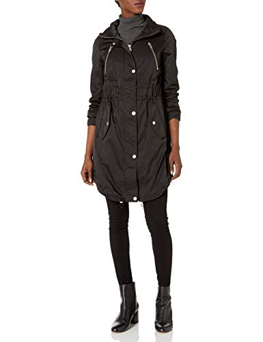 7 For All Mankind Women's Water Repellent Triple Tunnel Anorak Jacket, black, XS