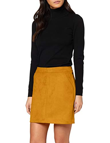 VERO MODA Damen VMDONNADINA Faux Suede Short Skirt COL Rock, Buckthorn Brown, L