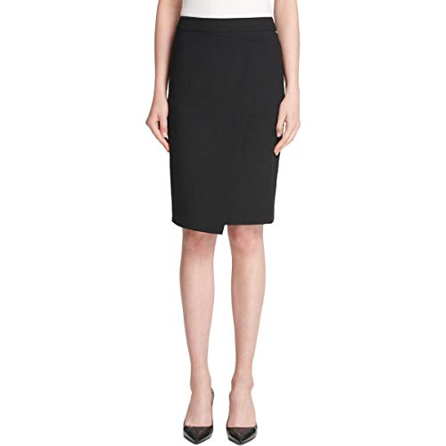 DKNY Womens Crossover Office Asymmetrical Skirt