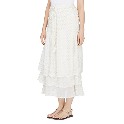 CATHERINE CATHERINE MALANDRINO Women's Berbas Skirt, Off Off White/Gold, L