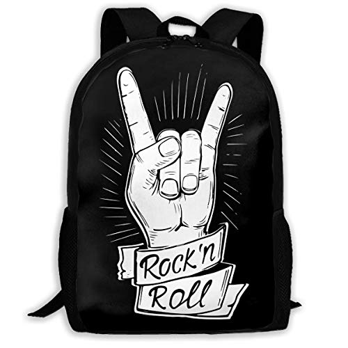 ADGBag Rock and Roll Fashion Outdoor Shoulders Bag Durable Travel Camping for Kids Backpacks Shoulder Bag Book Scholl Travel Backpack Kinderrucksack Rucksack