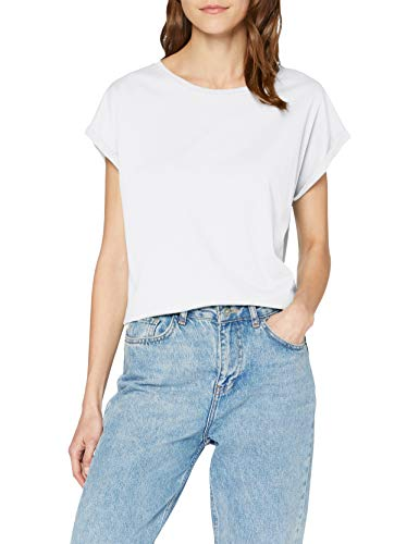 Urban s Damen Ladies Extended Shoulder Regular Fit Tee, Farbe white, Größe L