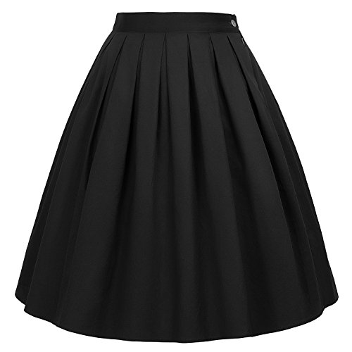 GRACE KARIN damen rockabilly rock a linie vintage retro rock swing röcke, Cl6294-28, M