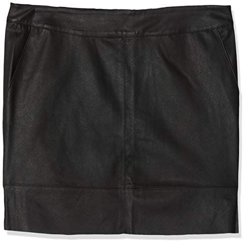 ONLY Damen onlBASE Faux Leather Skirt OTW NOOS Rock, Schwarz (Black), 38