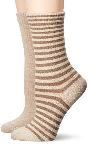 ESPRIT Damen Sporty Stripe 2-Pack Socken, beige (sand mel. 4650), 39-42 (UK 5.5-8 Ι US 8-10.5) (2er Pack)