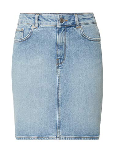 SELECTED FEMME Damen SLFKENNA MW Light Blue Denim Skirt W Rock, 36