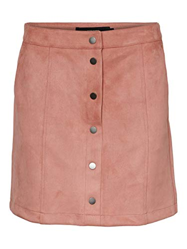 VERO MODA Damen VMDONNARAY Fake Suede Short Skirt COL Rock, Rosa (Old Rose Old Rose), XS