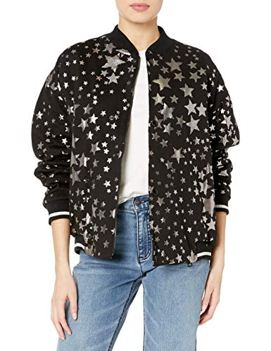 Just Cavalli Damen Bomber Rock Galaxy Print - Schwarz - 70