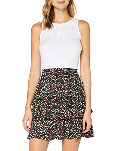 PIECES Damen PCAMELINE HW Skirt Rock, Black, XS