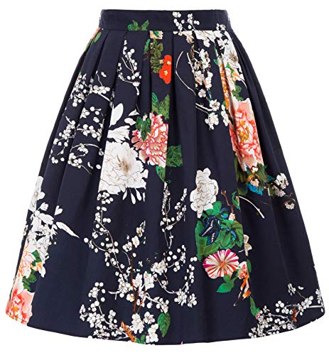 Damen Rockabilly Rock a Linie Vintage Retro Rock Swing röcke CL6294-31 S
