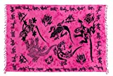 Ciffre Sarong Pareo Wickelrock Lunghi Dhoti Tuch Strandtuch Tribal Gecko Pink Schal