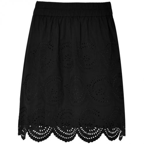 Marc by Marc Jacobs Black Palmetto Eyelet Skirt