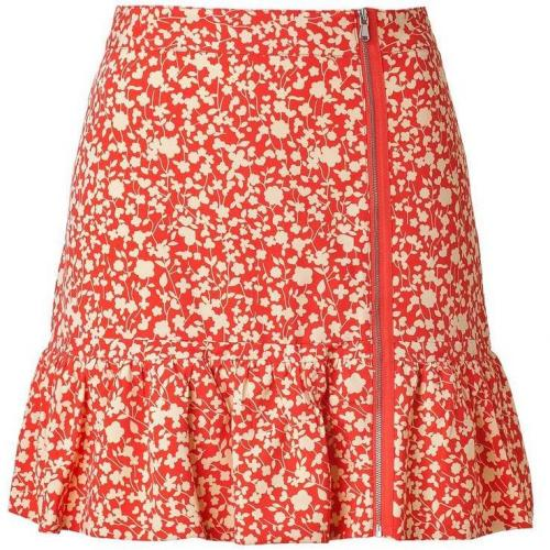 Marc by Marc Jacobs Red/Tan Ando Flower Skirt