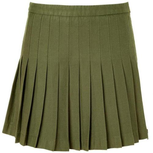 McQ Alexander McQueen Military Green Pleated Skirt