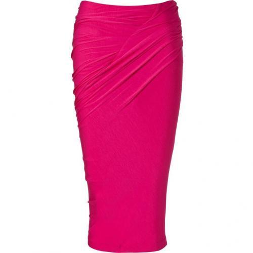 Shocking Pink Draped Skirt von Donna Karan