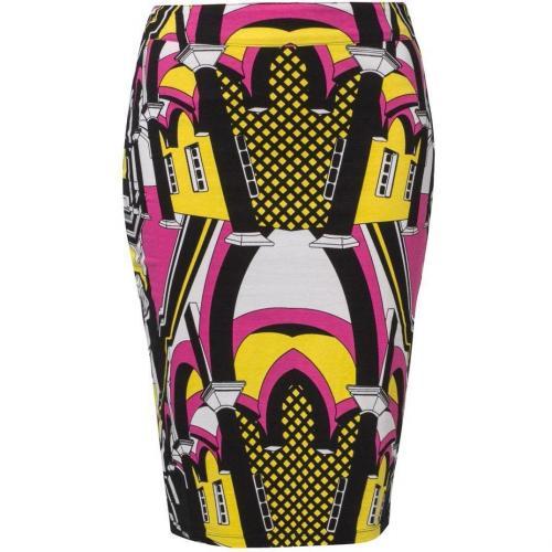Mary Bleistiftrock pink/yellow/black von Fairground