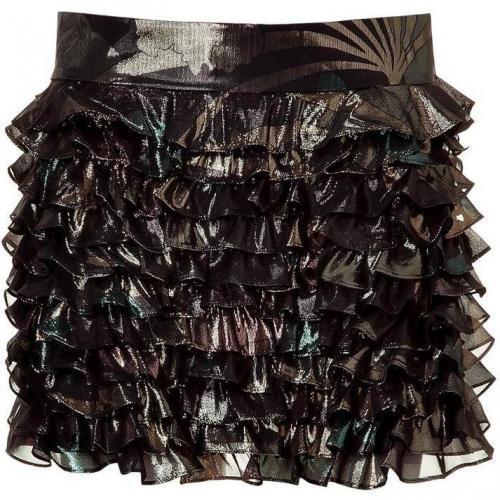 Black Lame Mini Skirt von Marc by Marc Jacobs