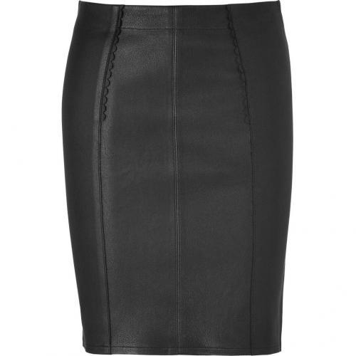 Black Leather Mirah Pencil Skirt von Marc by Marc Jacobs