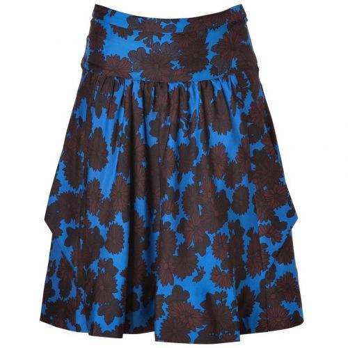 Neptune Blue-Multi Onyx Floral Silk Skirt von Marc by Marc Jacobs