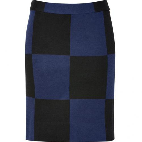 New Prussian Blue Multicolor Checkered Skirt von Marc by Marc Jacobs