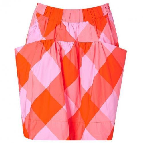 Shocking Orange/Pink Stacy Check Skirt von Marc by Marc Jacobs