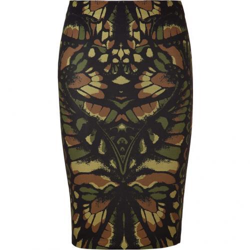 Camouflage Wing Print Jersey Skirt von McQ Alexander McQueen