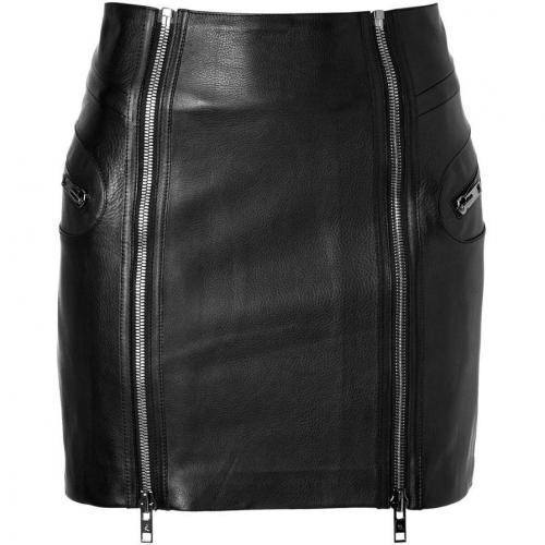 True Black Leather Skirt von McQ Alexander McQueen