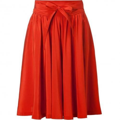 Rust Belted Swing Skirt von Salvatore Ferragamo